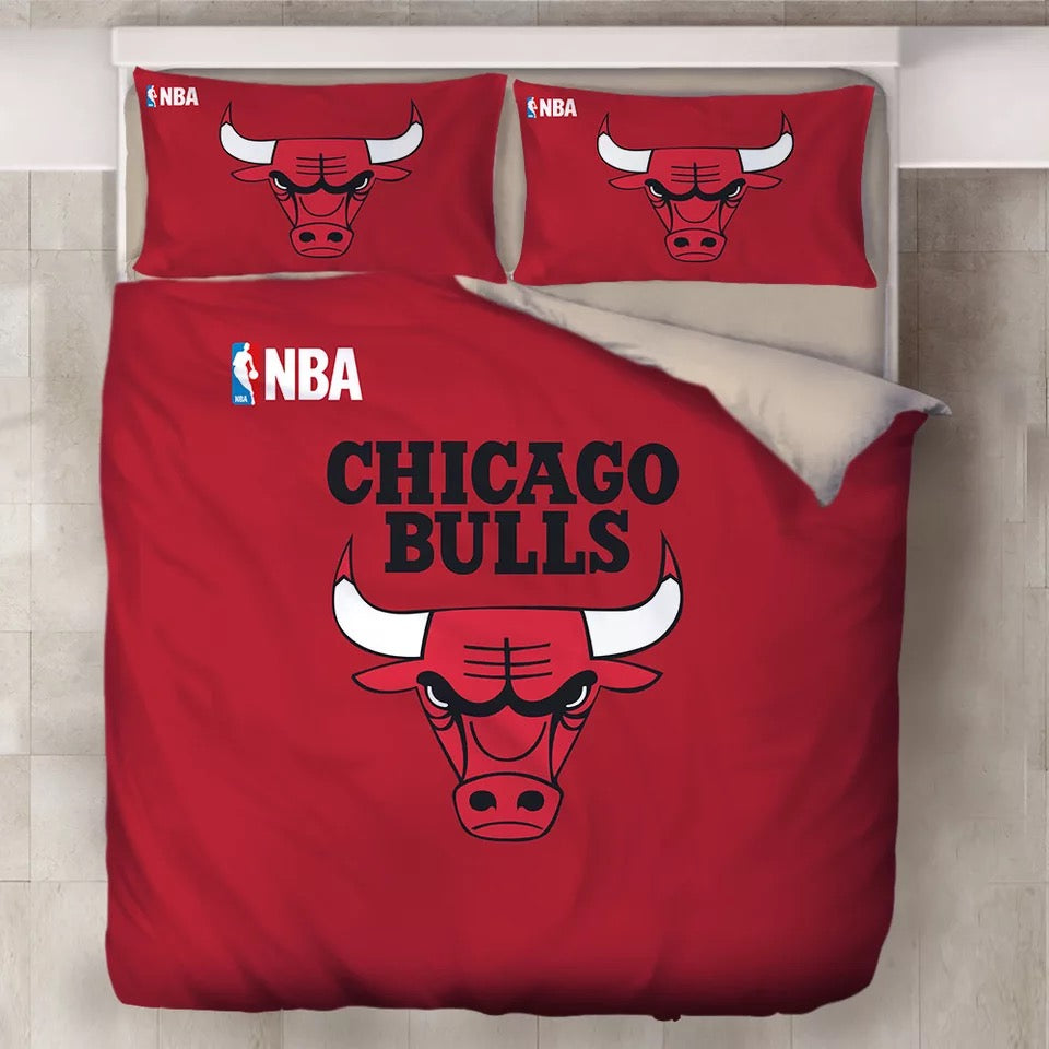 NBA Chicago Bulls Duvet Cover Bedding Set Pillowcase