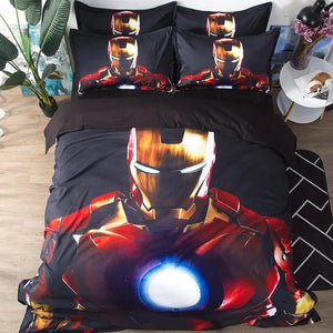 Iron Man Tony Stark #1 Duvet Cover Bedding Set Pillowcase