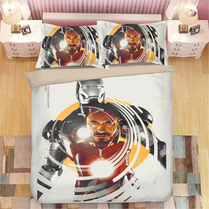 Iron Man Tony Stark #2 Duvet Cover Bedding Set Pillowcase