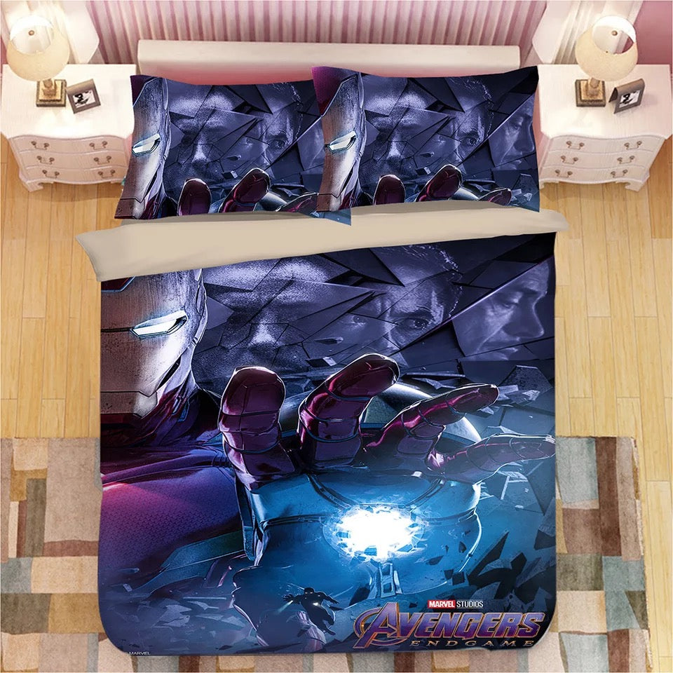 Iron Man Tony Stark #5 Duvet Cover Bedding Set Pillowcase