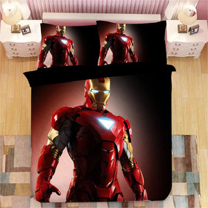 Iron Man Tony Stark #9 Duvet Cover Bedding Set Pillowcase