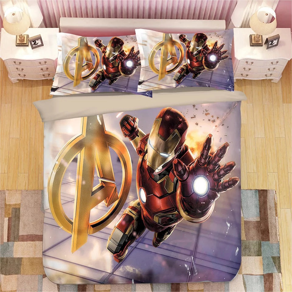 Iron Man Tony Stark #12 Duvet Cover Bedding Set Pillowcase