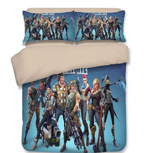 Fortnite Team #4 Duvet Cover Bedding Set Pillowcase
