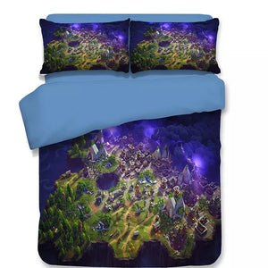 Fortnite Treasuer Map  Duvet Cover Bedding Set Pillowcase