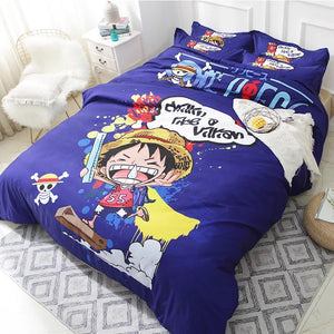 One Piece Monkey D. Luffy #2 Duvet Cover Quilt Cover Pillowcase Bedding Set