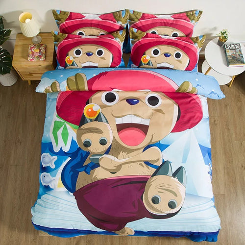 One Piece Tony Tony Chopper #4 Duvet Cover Quilt Cover Pillowcase Bedding Set
