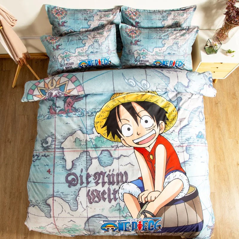 One Piece Monkey D. Luffy #5 Duvet Cover Quilt Cover Pillowcase Bedding Set