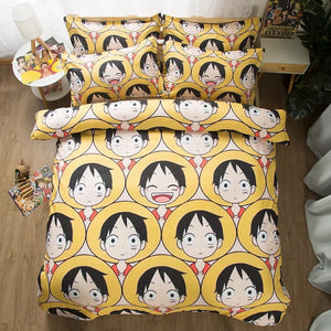 One Piece Monkey D. Luffy #10 Duvet Cover Quilt Cover Pillowcase Bedding Set