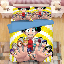 Load image into Gallery viewer, My Hero Academia Deku Midoriya Izuku #5 Duvet Cover Quilt Cover  Pillowcase Bedding Set