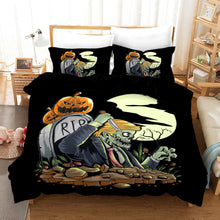 Load image into Gallery viewer, Halloween Pumpkin #1 Duvet Cover Quilt Cover Pillowcase Bedding Set