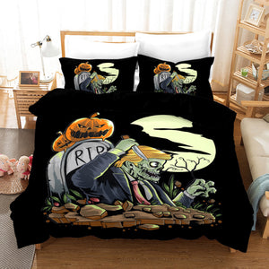 Halloween Pumpkin #1 Duvet Cover Quilt Cover Pillowcase Bedding Set