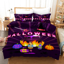 Load image into Gallery viewer, Halloween Pumpkin #2 Duvet Cover Quilt Cover Pillowcase Bedding Set