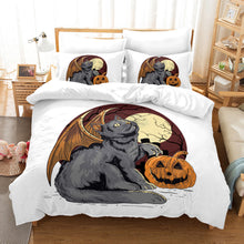 Load image into Gallery viewer, Halloween Pumpkin #3 Duvet Cover Quilt Cover Pillowcase Bedding Set