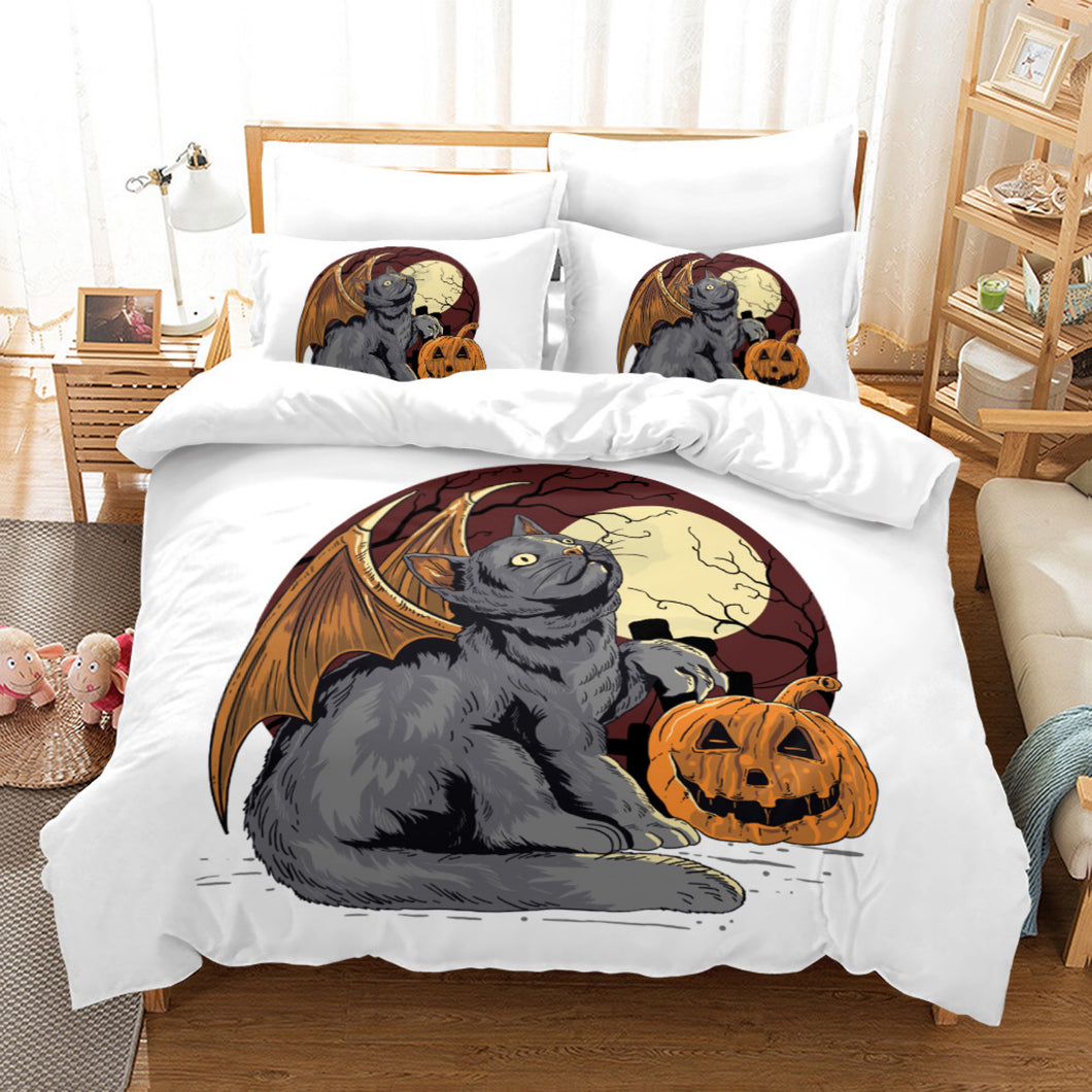 Halloween Pumpkin #3 Duvet Cover Quilt Cover Pillowcase Bedding Set