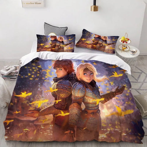How to Train Your Dragon Hiccup #30 Duvet Cover Quilt Cover Pillowcase Bedding Set Bed Linen