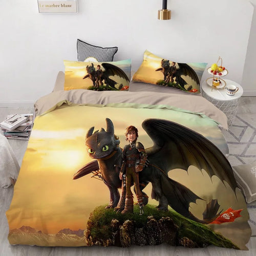How to Train Your Dragon Hiccup #31 Duvet Cover Quilt Cover Pillowcase Bedding Set Bed Linen