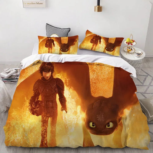 How to Train Your Dragon Hiccup #34 Duvet Cover Quilt Cover Pillowcase Bedding Set Bed Linen