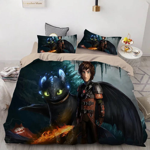 How to Train Your Dragon Hiccup #35 Duvet Cover Quilt Cover Pillowcase Bedding Set Bed Linen