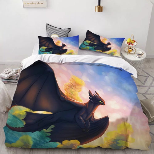 How to Train Your Dragon Hiccup #36 Duvet Cover Quilt Cover Pillowcase Bedding Set Bed Linen