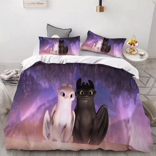 How to Train Your Dragon Hiccup #37 Duvet Cover Quilt Cover Pillowcase Bedding Set Bed Linen