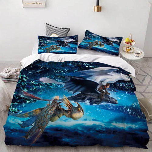 How to Train Your Dragon Hiccup #38 Duvet Cover Quilt Cover Pillowcase Bedding Set Bed Linen