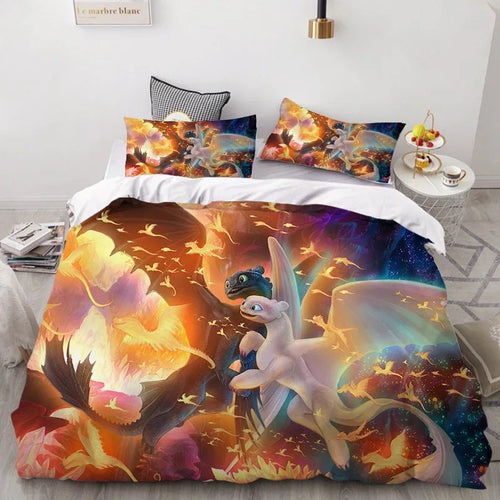How to Train Your Dragon Hiccup #39 Duvet Cover Quilt Cover Pillowcase Bedding Set Bed Linen