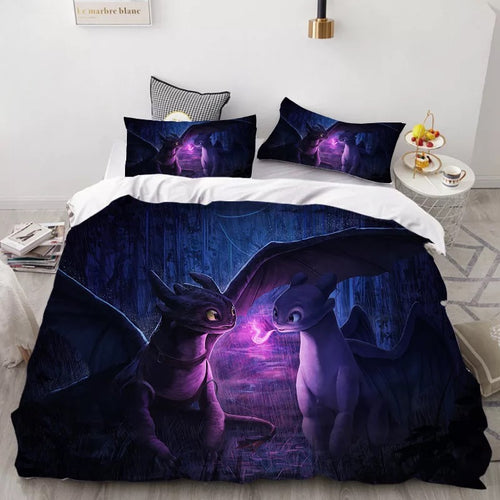 How to Train Your Dragon Hiccup #40 Duvet Cover Quilt Cover Pillowcase Bedding Set Bed Linen