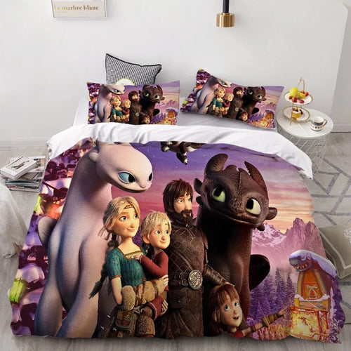 How to Train Your Dragon Hiccup #41 Duvet Cover Quilt Cover Pillowcase Bedding Set Bed Linen