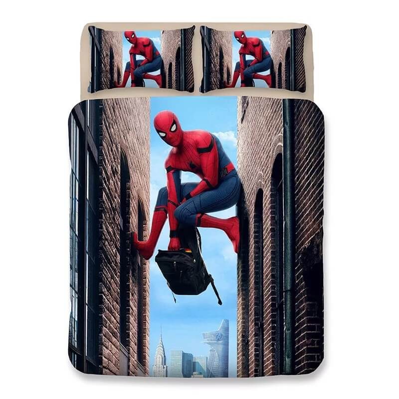 Spider Man Far From Home Peter Parker #2 Duvet Cover Quilt Cover Pillowcase Bedding Set