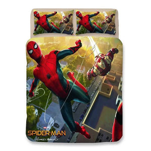 Spider Man Far From Home Peter Parker #4 Duvet Cover Quilt Cover Pillowcase Bedding Set
