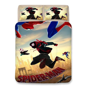 Spider-Man: Into the Spider-Verse Miles Morales #10 Duvet Cover Quilt Cover Pillowcase Bedding Set