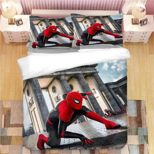 Spider Man Far From Home Peter Parker #7 Duvet Cover Quilt Cover Pillowcase Bedding Set