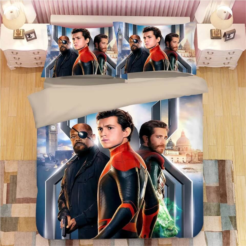 Spider Man Far From Home Peter Parker #9 Duvet Cover Quilt Cover Pillowcase Bedding Set