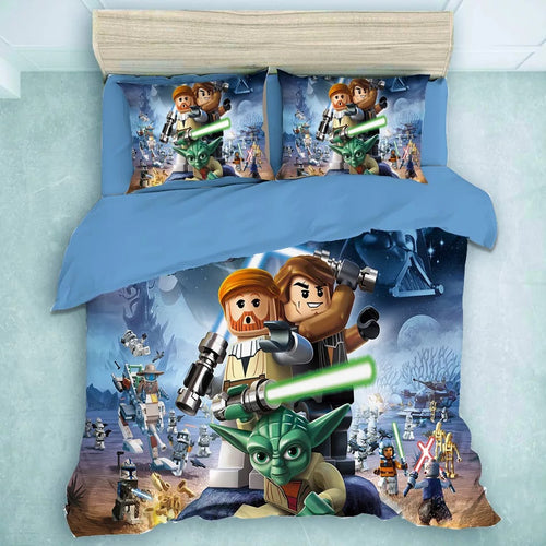 Star Wars Lego Yoda #11 Duvet Cover Quilt Cover Pillowcase Bedding Set Bed Linen Home Decor