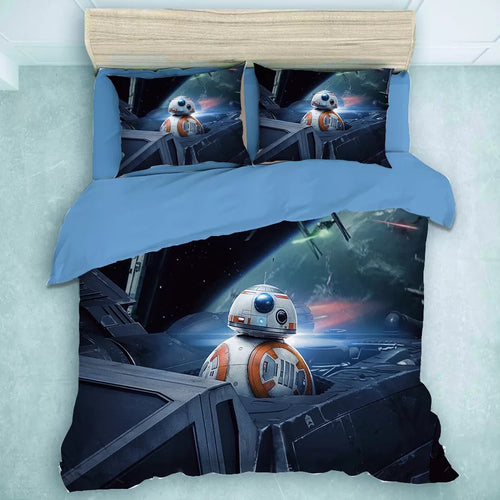 Star Wars BB-8 #29 Duvet Cover Quilt Cover Pillowcase Bedding Set Bed Linen Home Decor