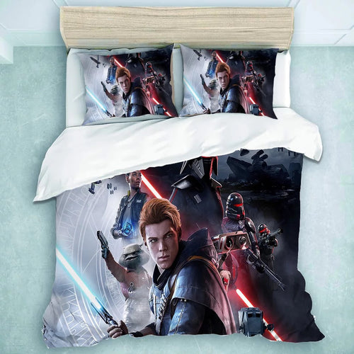Star Wars Jedi: Fallen Order Second Sister  #33 Duvet Cover Quilt Cover Pillowcase Bedding Set Bed Linen Home Decor