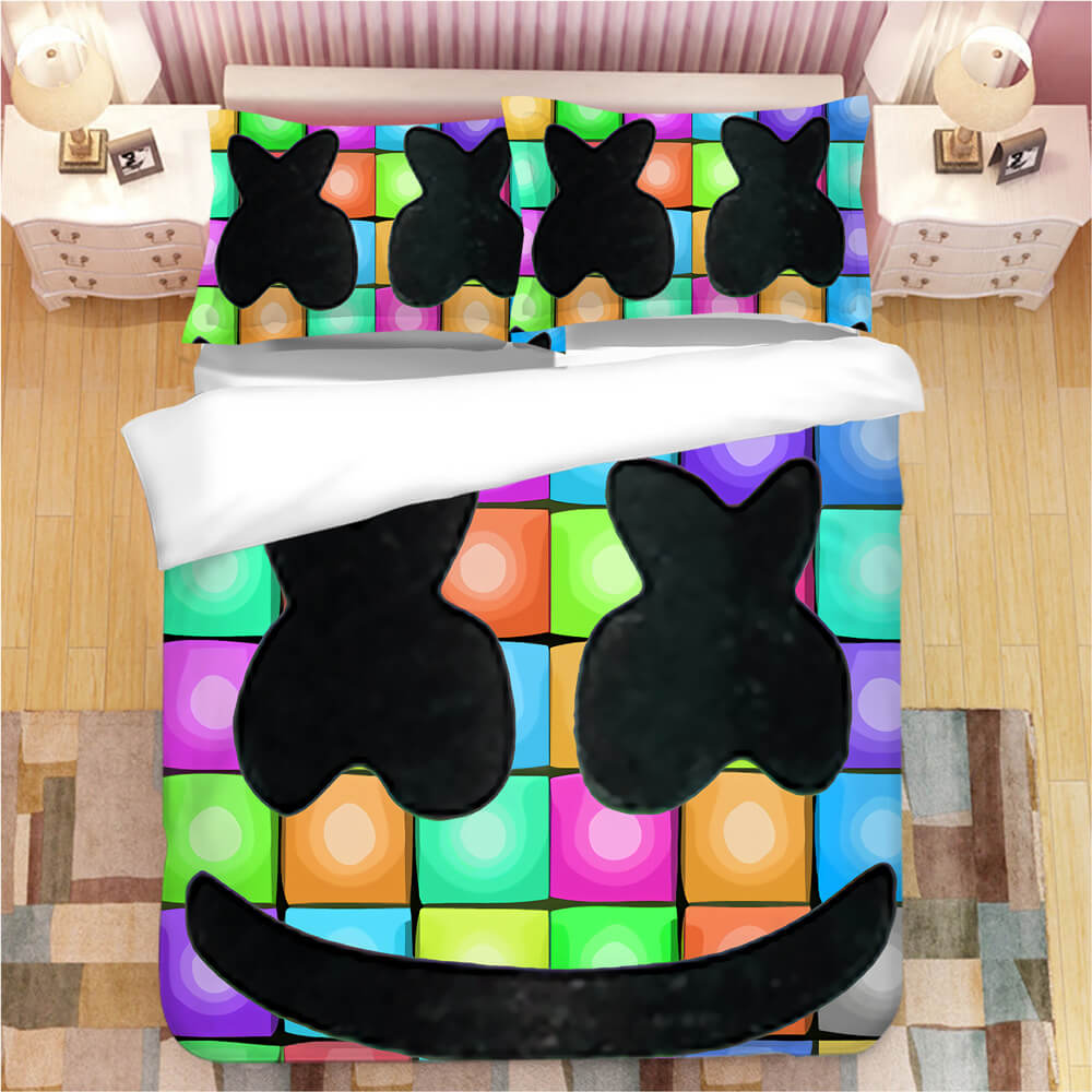 Fortnite Marshmello DJ #6 Duvet Cover Quilt Cover Pillowcase Bedding Set Bed Linen