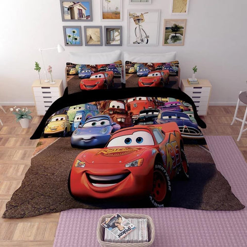 Movie Cars Lightning McQueen #5 Duvet Cover Quilt Cover Pillowcase Bedding Set