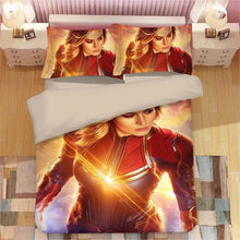 Load image into Gallery viewer, Captain Marvel Carol Danvers#2 Duvet Cover Quilt Cover Pillowcase Bedding Set