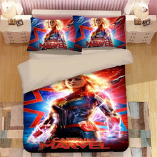 Load image into Gallery viewer, Captain Marvel Carol Danvers#3 Duvet Cover Quilt Cover Pillowcase Bedding Set