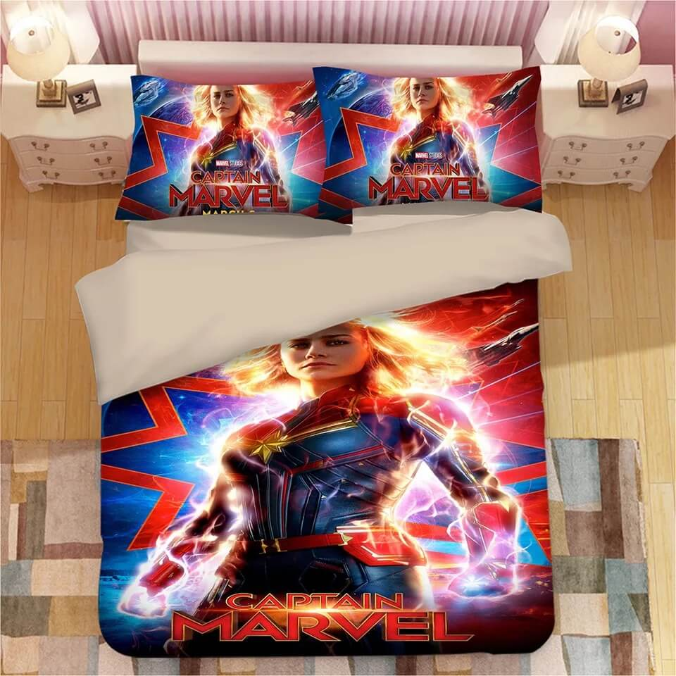 Captain Marvel Carol Danvers#3 Duvet Cover Quilt Cover Pillowcase Bedding Set
