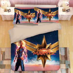 Captain Marvel Carol Danvers#6 Duvet Cover Quilt Cover Pillowcase Bedding Set