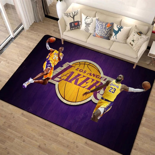 Basketball Lakers #1 Graphic Carpet Living Room Bedroom Sofa Mat Door Mat Kitchen Bathroom Mat for Home Decoration