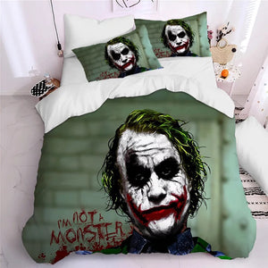 2019 Joker Arthur Fleck Clown #3 Duvet Cover Quilt Cover Pillowcase Bedding Set Bed Linen