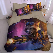 Load image into Gallery viewer, Guardians of the Galaxy Groot Star Lord Rocket #7 Duvet Cover Quilt Cover Pillowcase Bedding Set Bed Linen