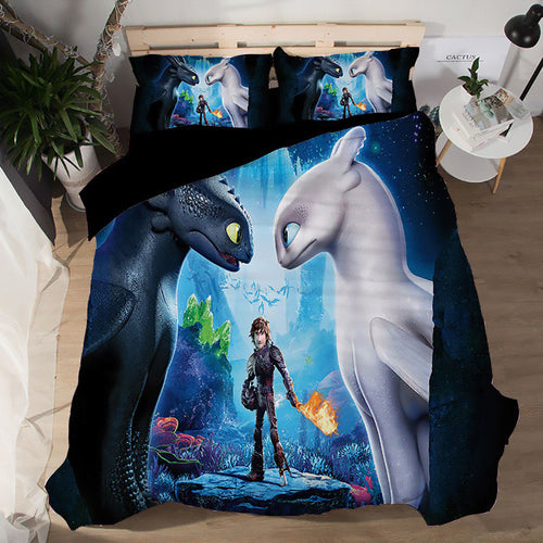 How to Train Your Dragon #1 Duvet Cover Quilt Cover Pillowcase Bedding Set Bed Linen