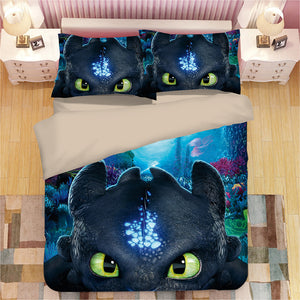 How to Train Your Dragon #2 Duvet Cover Quilt Cover Pillowcase Bedding Set Bed Linen