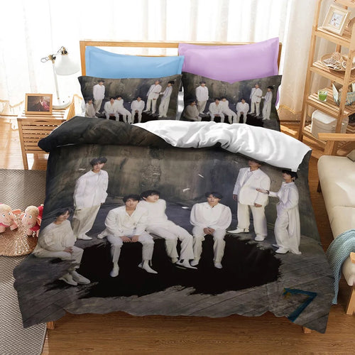 BTS MAP OF THE SOUL 7 #13 Duvet Cover Quilt Cover Pillowcase Bedding Set Bed Linen Home Bedroom Decor