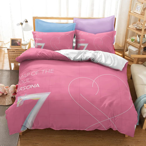 BTS MAP OF THE SOUL 7 #15 Duvet Cover Quilt Cover Pillowcase Bedding Set Bed Linen Home Bedroom Decor