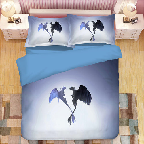 How to Train Your Dragon #6 Duvet Cover Quilt Cover Pillowcase Bedding Set Bed Linen
